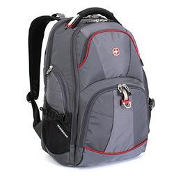 """Swiss Gear Backpack,15"""" Laptop, Scan Smart - Grey"""