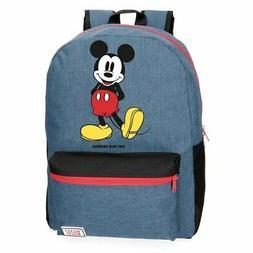 Backpack Mickey Mouse Disney Blue Woman Man Men 12 5/8x16 1/