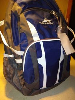 High Sierra Backpack, New, Navy & Gray with black & White ac