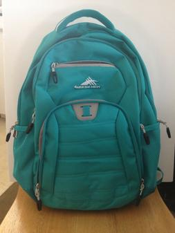 High Sierra backpack, new, turquoise, 4 outer zipper pockets