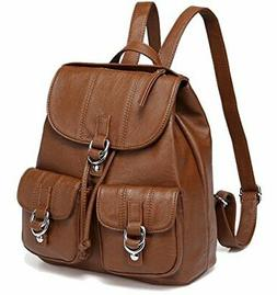 Backpack Purse for Women,VASCHY Fashion Faux Leather Buckle
