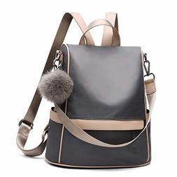 Backpack Purse Nylon Anti-theft Waterproof Casual Convertibl