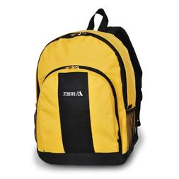 Everest Backpack w/ Front & Side Pockets Color: Yellow / Bla