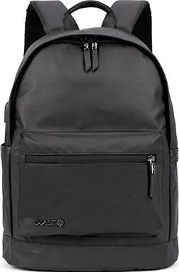 "Backpack w/USB Charging Port Fits UNDER 15"" Laptop & Noteboo"