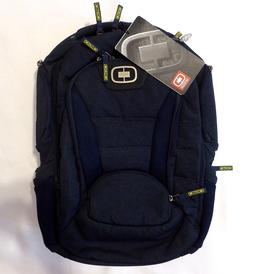 OGIO Bandit 17 Laptop Day Pack Backpack Navy Blue Neon Green