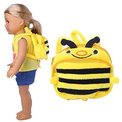 Bee Backpack For Doll - 18 inch American Girl Doll Cute Hone