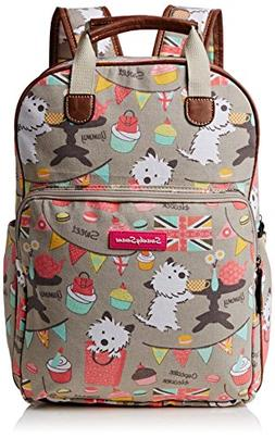 Biba Dog Cupcake Party Print Essex Backpack School Bag & Tab