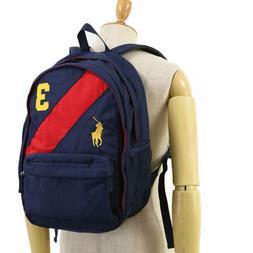 big pony backpack navy w red stripe