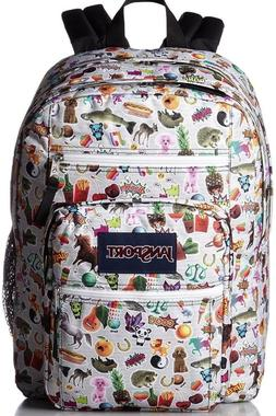 New Girls JANSPORT Big Student Backpack Bookbag Multi Sticke