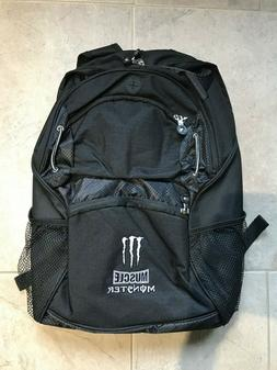 MONSTER ENERGY BLACK BACKPACK NEW !!  FREE SHIPPING!! PADDE