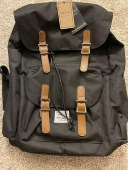 Vaschy Black Backpack Water-resistant Hiking Daypack Travel