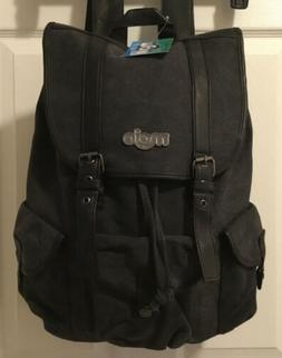 MOJO Black Canvas Daypack Backpack Rucksack School Camping T