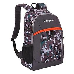 Swiss Gear Black Orange Digital 17.5 inch Backpack with Side