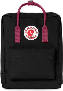 Fjallraven Black and Ox Red Kanken Original Backpack