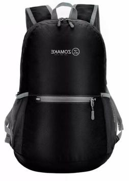 1ZOMAKE Black Ultra Lightweight Packable Backpack Water Resi