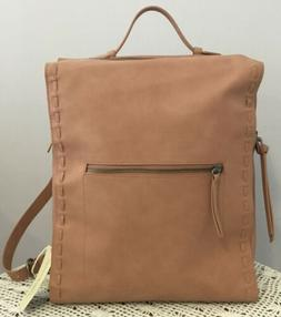 Universal Thread Blush Pink Square Backpack Purse, Faux Leat