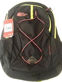 THE NORTH FACE BOOKBAG BACKPACK WOMEN JESTER BlACK/LIME GREE