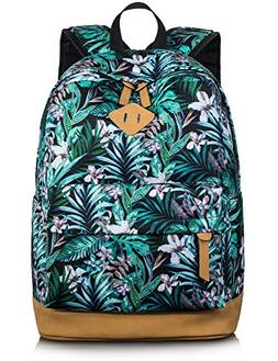 Leaper Floral Laptop Backpack Bookbag for Teens College Dayp
