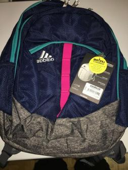 BRAND NEW! adidas Stratton XL Backpack - Blue/Grey/PINK GIRL
