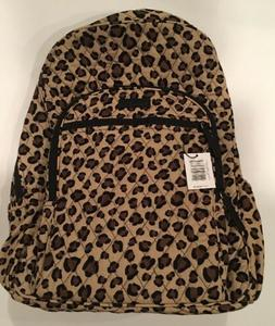 NEW Vera Bradley CAMPUS BACKPACK Snow Leopard Laptop NWT *Re