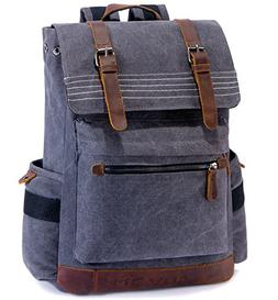 SUVOM Canvas Backpack, Vintage School Backpack, Stylish Trav