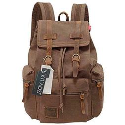 Canvas Backpack, P.KU.VDSL-AUGUR SERIES Knapsack Rucksack Hi