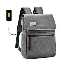 Canvas Backpack Laptop Backpack Hiking Rucksack Middle Stude