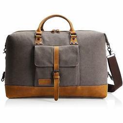 AmazonBasics Canvas Duffel Bag, Grey