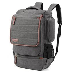 SOCKO Canvas Laptop Backpack Business Travel Luggage Bag Col