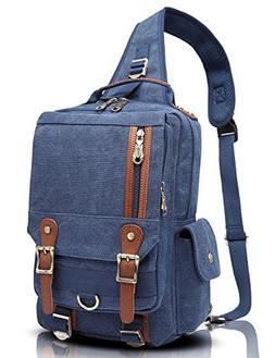 Men Messenger Bag Kaukko Canvas Sling Backpack Cross Body Sh