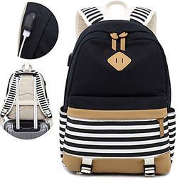 Canvas Travel Laptop Backpacks Womens College Backpack Schoo