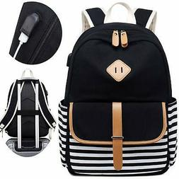 Canvas Travel Laptop Backpacks Womens College Backpack Schoo