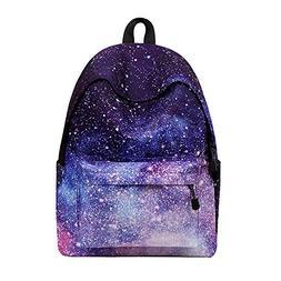Sky-shop Casual Geometric Unisex Galaxy Pattern School Bag B