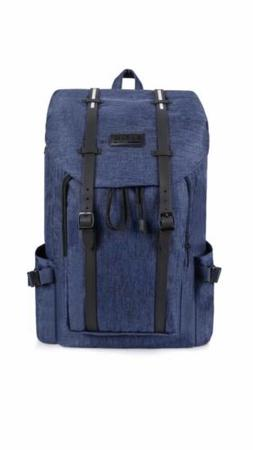 Bagail Casual Large Vintage Canvas Travel Backpacks Laptop C