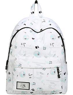 Mygreen Casual Style Lightweight Canvas Backpack School Bag