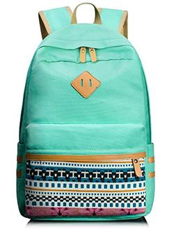 Leaper Casual Canvas Laptop Bag Cute School Backpack Travel
