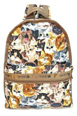 LeSportsac Cat Cafe Bene Basic Backpack/Rucksack, Free Ship