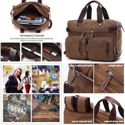 CESU Laptop Bag Hybrid Briefcase Backpack Messenger Bag for