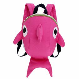 Children Baby Kids Shark Backpack With Anti Loss Harness Lea