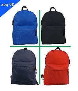 Wholesale Classic Backpack 18 inch Basic Bookbag Padded Back