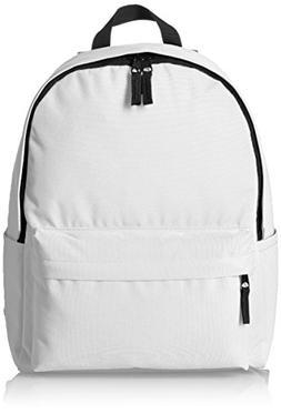 AmazonBasics Classic Backpack White Lightweight Bag Bottle P
