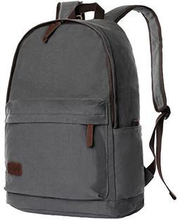 ibagbar Classic Canvas Backpack Grey