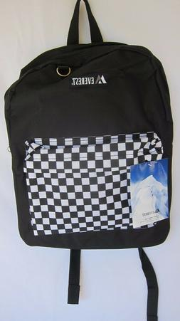 Everest Classic Color Block Backpack B/W Checker/Camouflage-