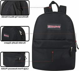 Classic Traditional Solid 17 Inch Backpacks with Adjustable