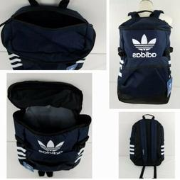 """Adidas Classic Trefoil Laptop ZIP TOP Backpack NAVY 20"""" ONE"""