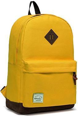 Vaschy Unisex Classic Water Resistant School Backpack Bookba
