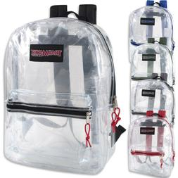 Clear Trailmaker Backpack Bookbag With Colored Trim - New Wi