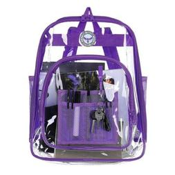 BAGAIL Clear Backpack Heavy Daypack Student Duty Transparent