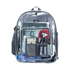 Clear Backpack, Heavy Duty See Through Backpack Transparent