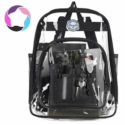 BAGAIL Clear Backpack Heavy Duty See Through Student School